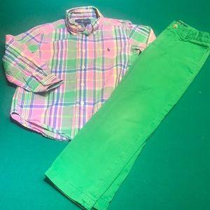 Toddler Ralph Lauren Dress Shirt And Pants. EUC!